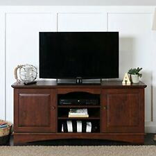 "WalkerEdisonFurniture Company 60"" Brown Wood TV Stand Console"