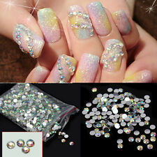 Lots 1000Pcs Rhinestone Facets Flatback Crystal Round Beads Nail Art DIY 4mm New