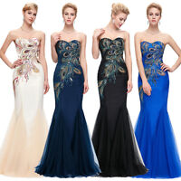 Sexy Mermaid Bridesmaid Dress Formal Evening PROM Cocktail Ball Gown SIZE 14 16+