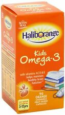 Haliborange Kids Omega 3 Vitamins A C D & E Orange Chewable Fruit Burst (90)