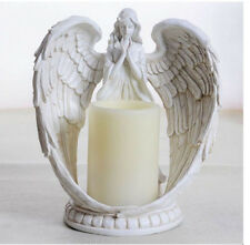 "9"" Praying Angel Wings Figurine Sculpture Statue Votive Prayer Candle Holder"