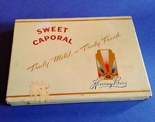"Vintage Sweet Caporal "" Kinney Bros. "" Flat 50 Cigarette Tin"