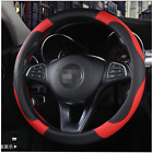 Sports PU Leather Car SUV Steering Wheel Cover 38cm/15