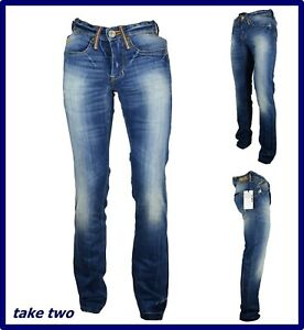 take two jeans da uomo slim fit regular a vita bassa a gamba dritta dritti w28