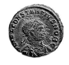 ANCIENT ROMAN COIN - CONSTANTINE II. 316-340AD -GLORIA INEXERCITUS -  #TE31