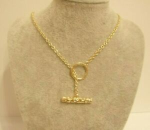 Golden Toggle Lariat Necklace Gift Boxed