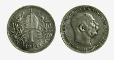 pcc2128_106)  Franz Joseph I 1 Korona 1916 AG