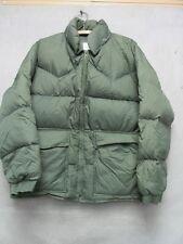 V6759 Ski Trails Sports Green Zip Up 70's Vintage Down w/Hood Jacket Men's L