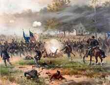 US American Civil War Art - Battle of Antietam - Real Canvas Fine Art Print