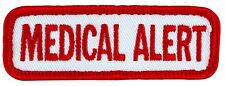 "MEDICAL ALERT Sew-on SD-013 Service Dog Embroidered Patch 3""X1"" FREE SHIP"