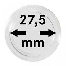 LINDNER - 10 Stück Münzkapseln für 5 Euro Münze Deutschland 2016,2017 - 27,5 mm