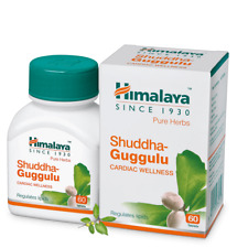Himalaya Pure Herb Shuddha Guggulu Regulates Lipids Cardiac Wellness 60 Tablets