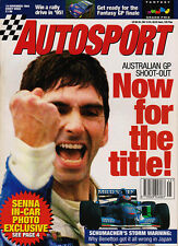 Autosport 10 Nov 1994 - Senna crash, Hill, Schumacher,  British F3, Eddie Irvine