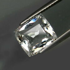3.08 Carats Unheated Goshenite White AQUAMARINE Jewelry Setting Cushion