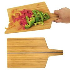 No-Spill Bendable Folding Bamboo Cutting Board