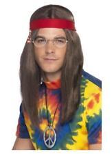Hippy Hombre Kit Hombre 4 PIEZAS AÑOS 60 AÑOS 70 Accesorio de disfraz set