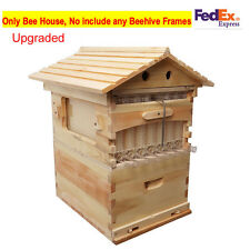 Beekeeping Cedarwood Super Brood Box For Auto Flow Honey Beehive Frames(Max 7PC)