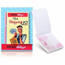 Kelloggs Vintage Magnetic Shopping List Pad Notebook Pencil Retro Xmas Gift Set