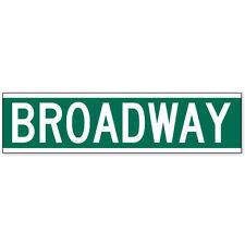 "Broadway Road Sign New York car bumper sticker window decal 8"" x 2"""
