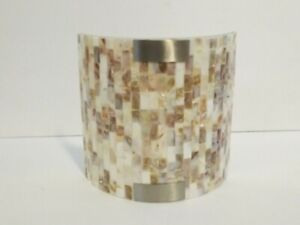 Lite Source Wall Sconce, White, Shell Shade - LS-16381