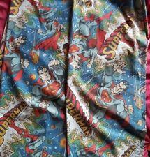 Vintage Superman DC Comics 1978 curtains childrens 137cm D 157cm W retro
