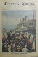 LA DOMENICA DEL CORRIERE N.28 1936  RITORNO DALL'AFRICA ORIENTALE