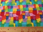 Timeless Treasures Colorful Blocks Cotton Fabric Patt  gail - C4740 By the Yard