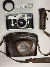 New ListingLeica M2 35mm Rangefinder Film Camera Button Rew Self Timer w/ Lens Goggles Case
