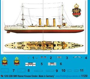 Peddinghaus 1/1250 ep 3286 SMS Kleiner Kreuzer Emden