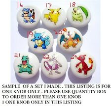 1 (one)  POKEMON DRESSER DRAWER KNOBS CHOOSE THE ONES YOU WANT  MADE AS ORDERED