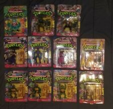 11 Vintage TMNT Teenage Mutant Ninja Turtles Lot MOC action figure 1988 & 1990