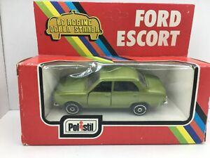 POLISTIL * MK1 Ford Escort * 4 DOOR * GREEN * RARE*1:43