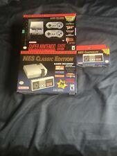 nes classic + super nes classic + nes classic controller bundle all brand new