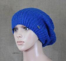 Neff Snowboarding Nolita Beanie Womens Cobalt Blue Knit Slouch Hat New NWT OSFM