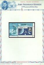 RAS AL KHAIMA  MEMORIAL TRIBUTES J.F. KENNEDY  APOLLO 11 SHEET & S/S PERFORATED