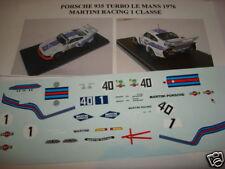 PORSCHE 935 TUR LE MANS 1976 MARTINI RACIN 1/43 DECALS