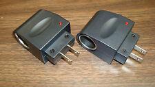 Lot Of 2 Power Converter 120V Ac to 12V Dc Car Outlet 500mAh Inverter (2 Total)