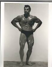 bodybuilder MARVIN EDER  Bodybuilding Muscle Photo B&W looking to right