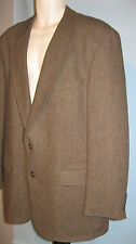 VINTAGE mens 46 T  Chaps Ralph Lauren brown herringbone  tweed Blazer