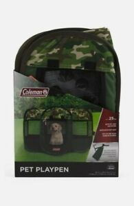 COLEMAN Camo Playpen With Carry Bag Portable Puppy Pet Dog Soft Tent Outdoor NEW