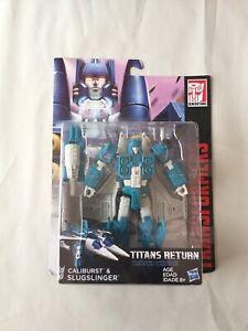 New Transformers Titans Return Deluxe Class Slugslinger / Caliburst