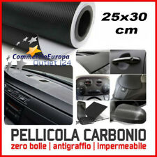 pellicola adesiva car wrapping nera 25x30cm  carbon look WRAP AUTO MOTO CAMION