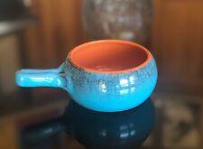 De Silva Soup Chili Bowl Handle Aqua Blue Terra-cotta Oven Baking Dish Italy