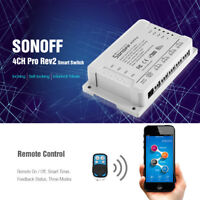 SONOFF 4CH Pro Rev2 4-Gang WiFi Smart Switch Remote On/Off Access Control Switch