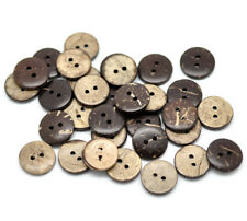 """100PCs Coconut Shell Sewing Buttons Scrapbooking 2 Holes Round Brown 15mm( 5/8"""")"""