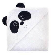 Luvable Friends animale faccia con cappuccio Asciugamano, Bianco E Nero Panda 100% Cotone Terry