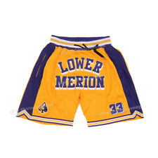 Lower Merion Basketball Shorts Bryant #33 Stitched Summer Running Workout Shorts