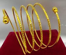 Ladies 14ct 9ct Yellow Gold GF 65mm Spring Soild Women Men Bangle Bracelet Gift