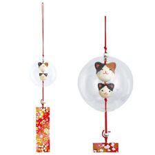 JAPANESE Furin chime Wind Bell  CAT NEW MADE IN JAPAN