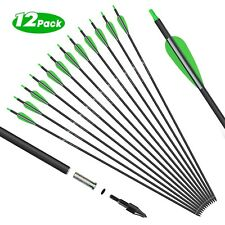 "12 Archery Carbon Hunting Target Arrows 30"" spine 500 - Recurve & Compound Bows"